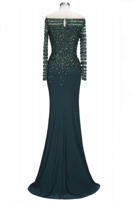 OLYMPIA | Mermaid Long Strapless Long Sleeves Prom Dresses with Sequins and Crystals