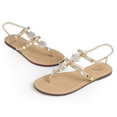 Plage chaîne strass quotidien sandales sandales_8