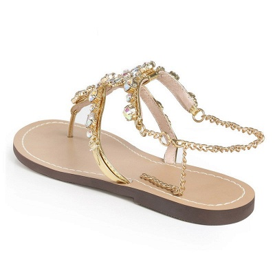 Plage chaîne strass quotidien sandales sandales_4