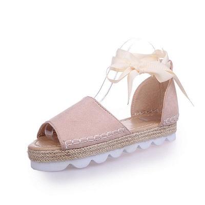 Sandales à plateforme à lacets et à lacets_2