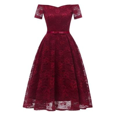 neue A-Linie Frauen Lace Vintage Dress_2