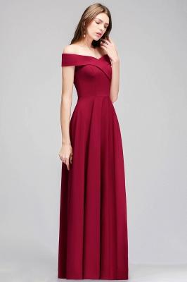 MAISIE | A-line Off-the-shoulder Floor Length Burgundy Bridesmaid Dresses_7
