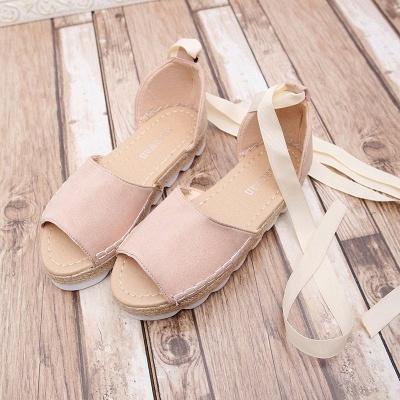 Sandales à plateforme à lacets et à lacets_1