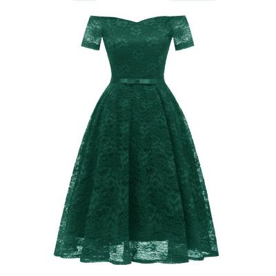 neue A-Linie Frauen Lace Vintage Dress_5