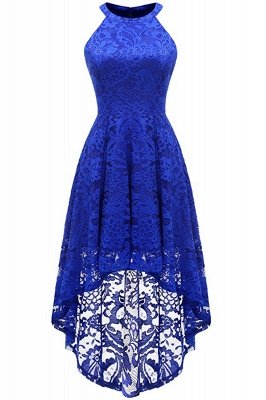 Lace Dress Female Robe Casual 1950s Rockabilly High Low Sleeveless Swing Summer Dresses_2