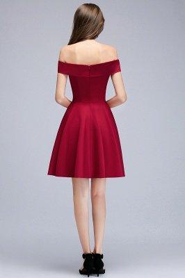 MAMIE | Una línea de hombro corto borgoña vestidos de regreso al hogar_4