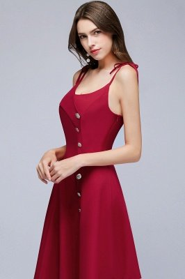 MALVINA | A-line Short V-neck Spaghetti Burgundy Homecoming Dresses with Buttons_8