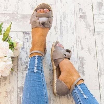 Bride à la cheville appartements lacets chaussures sandales espadrilles en daim_8