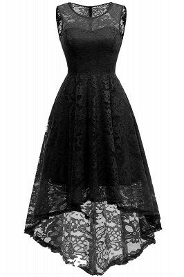 Women Floral Lace Bridesmaid Party Dress Short Prom Dress V Neck_18