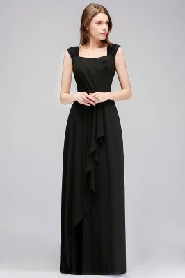 MAGDALEN | A-line Floor Length Sleeveless Ruffled Chiffon Bridesmaid Dresses_5