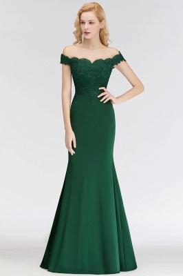 NOLA | Mermaid Off-the-shoulder Long Appliques Satin Bridesmaid Dresses_1