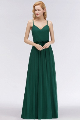 NICOLA | A-line Floor Length V-neck Spaghetti Chiffon Bridesmaid Dresses_4