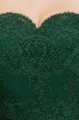 Elegante Brautjungfernkleider Dunkelgrün Online Kaufen | Günstige Brautjungferkleider Mit Applikationnen_14