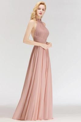 NORAH | A linha até o chão Halter Ruffled Chiffon dama de honra Vestidos_5