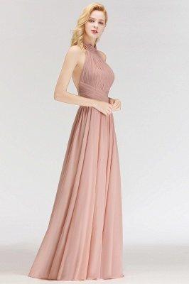 Elegante Hellrosa A-Linie Brautjungfer kleider | Schlichtes Brautjungferkleid Online Kaufen_5