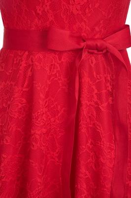 A-ligne sans manches robes de dentelle de Bourgogne avec noeud_14