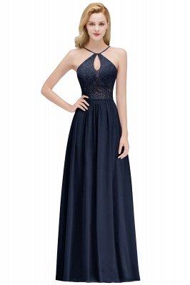 MADELEINE | Vestidos de dama de honor de espagueti largo con cuello de pico de una línea de encaje A-line_3