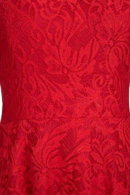 Vestidos de encaje de color borgoña sin mangas con cuello en V de una línea_14