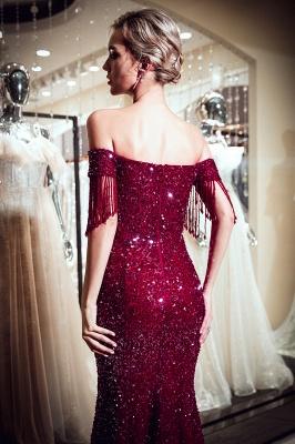 MELISSA | Mermaid Off-the-shoulder V-neck Floor Length Sequins Evening Dresses_8