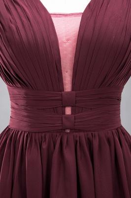 Weinrote Brautjungfernkleider Aus Chiffon | Elegantes Brautjungfer Kleid Bodenlang_15