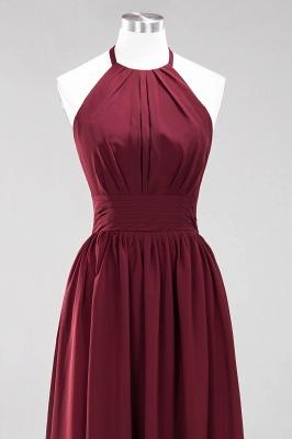A-line Chiffon Appliques Halter Sleeveless Floor-Length Bridesmaid Dresses with Ruffles_10