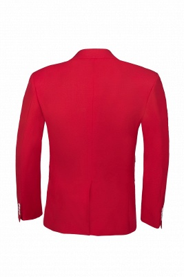 Настроить Red Two Button High Quality Back Vent Wedding Suit_5