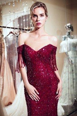 MELISSA | Mermaid Off-the-shoulder V-neck Floor Length Sequins Evening Dresses_10