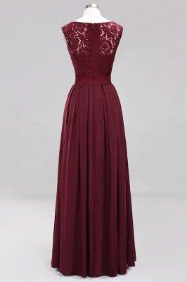 A-line Chiffon Lace Jewel Sleeveless Ruffles Floor-length Bridesmaid Dress_10