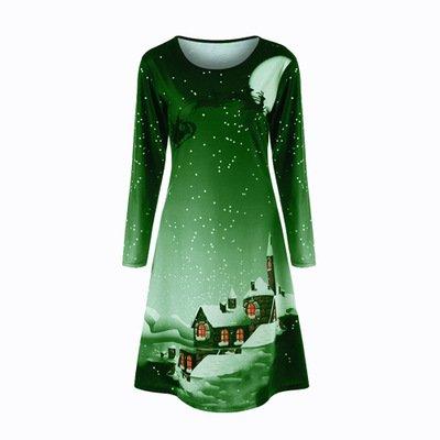 Платье с длинным рукавом с длинным рукавом_6