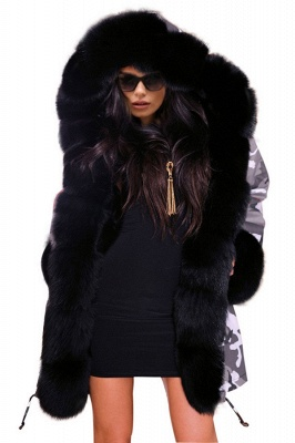 Casual Long Sleeves Solid Faux Fur Outcoat Women Coat_6
