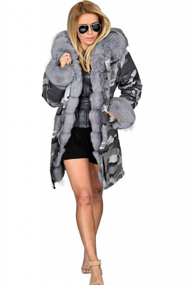 Casual Long Sleeves Solid Faux Fur Outcoat Women Coat_7