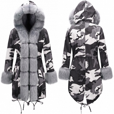 Casual Long Sleeves Solid Faux Fur Outcoat Women Coat_10