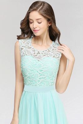 A-line Chiffon Lace Jewel Sleeveless Floor-Length Bridesmaid Dress with Ruffles_4