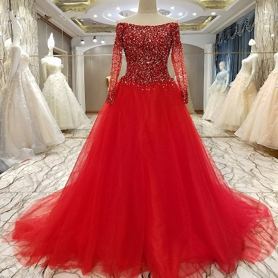 Exquisite A Line Bateau Illusion Floor-length Lace-up Evening Gown With Beadings