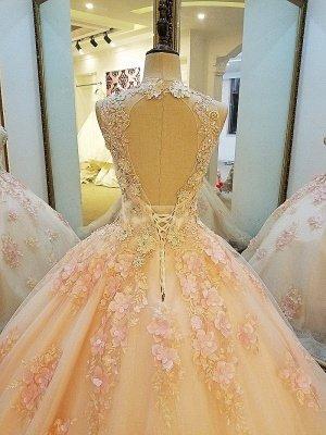 Crew Fashion Sleeveless Une robe de bal de longueur de plancher de baguettes_5