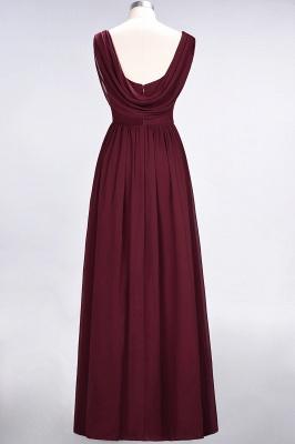 Chiffon A-Line Straps V-Neck Sleeveless Long Bridesmaid Dress with Ruffles_9
