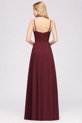 A-line Chiffon Spaghetti Straps Sleeveless Ruffles Floor-Length Bridesmaid Dresses_2