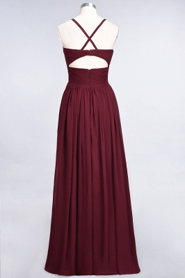 Chiffon A-Line Spaghetti-Straps V-Neck Sleeveless Long Bridesmaid Dress with Ruffles_41
