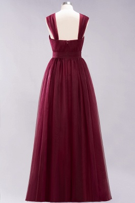 A-Line Popular Sweetheart Straps Sleeves Floor-Length Bridesmaid Dresses with Ruffles_4