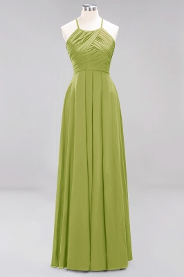 A-Line Chiffon Halter Ruffles Floor-Length Bridesmaid Dress_32