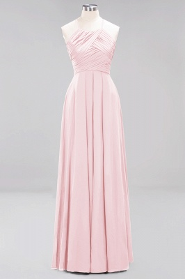 A-Line Chiffon Halter Ruffles Floor-Length Bridesmaid Dress_3