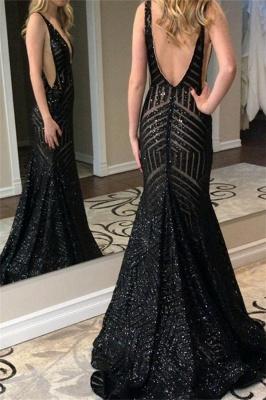 Superbe robe de bal sirène sans bretelles avec décolleté en V_3