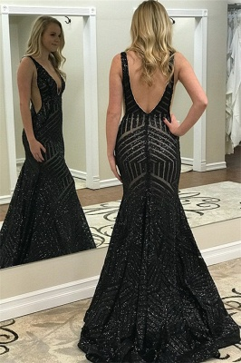 Superbe robe de bal sirène sans bretelles avec décolleté en V_2