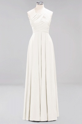A-Line Chiffon Halter Ruffles Floor-Length Bridesmaid Dress_2