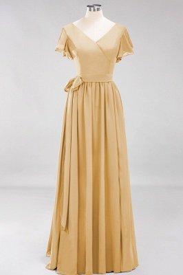 Elegante Brautjungfernkleider Mit Schlitz   Schlichtes Brautjungfer Kleid Online Kaufen_13