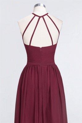 A-Line Chiffon Neckholder Braujungfer Kleid   Bodenlanges Brautjungfernkleid Online Kaufen_8