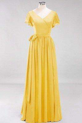 Elegante Brautjungfernkleider Mit Schlitz   Schlichtes Brautjungfer Kleid Online Kaufen_16