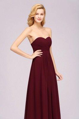 A-line Chiffon Sweetheart Strapless Ruffles Floor-length Bridesmaid Dress_6