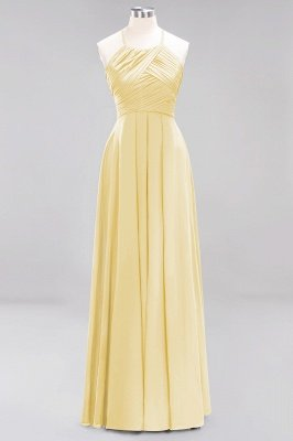 A-Line Chiffon Halter Ruffles Floor-Length Bridesmaid Dress_17