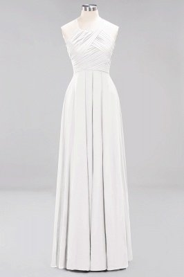 A-Line Chiffon Halter Ruffles Floor-Length Bridesmaid Dress_1